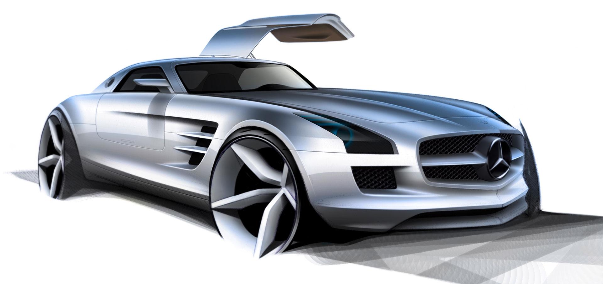 Mercedes benz sls amg design sketch 2 lg dlorto miami for Mercedes benz design your own